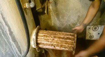 شست و شوی منبع کویل دار موتورخانه